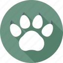animal, footprint, paw, paw print, pet icon