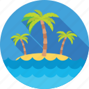beach, nature, palm, resort, trees icon