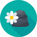 fitness, flower, relaxation, spa, spa stones icon
