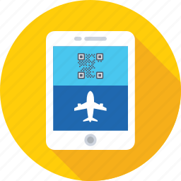 airline, booking, e ticket, mobile, reservation icon