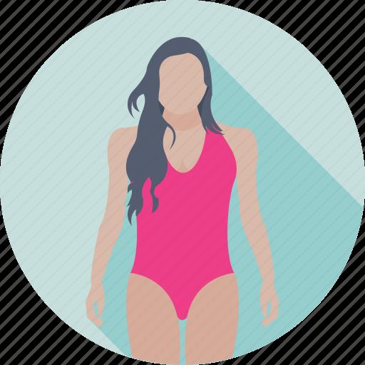 beach, female, lady, summertime, woman icon