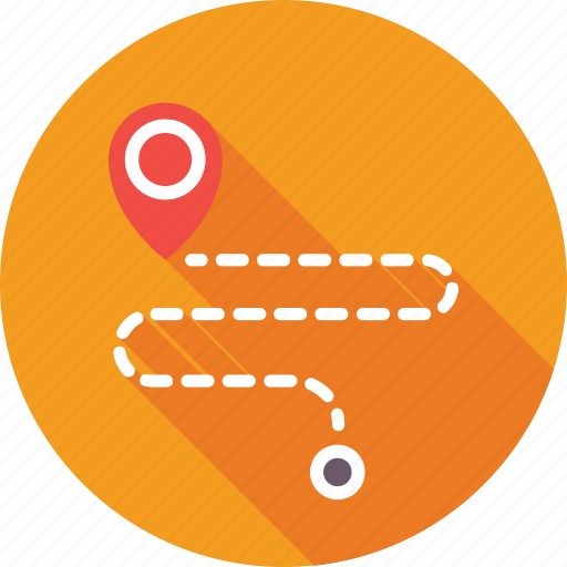 gps, navigation, placeholder, route, travel distance icon