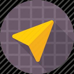 arrow, cartography, direction, gps, navigation icon