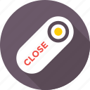 close, close shop, close sign, door hanger, signage icon