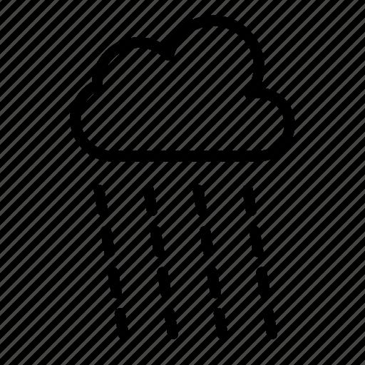 climate, cloud, forecast, raining, weather icon