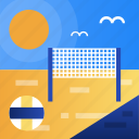 ball, beach, summer, vollyball icon