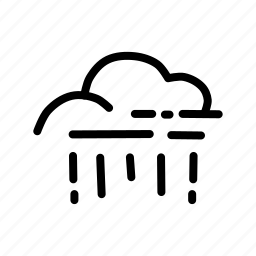 cloud, drizzle, forecast, rain, rainfall, raining, weather icon