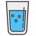 cold, cube, drink, hydrate, ice, summer, water icon