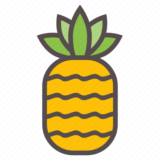 food, fruit, juice, pine, pineapple, summer, tropical icon