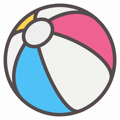 ball, beach, fun, inflatable, play, summer, vacation icon
