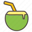beach, coconut, drink, juice, milk, summer, vacation icon