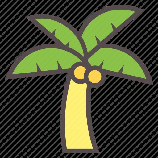 beach, coconut, island, palm, summer, tree, vacation icon