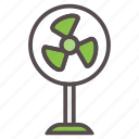 air, cooling, electric, fan, hot, summer, vacation icon