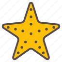 beach, fish, ocean, star, starfish, summer, vacation icon