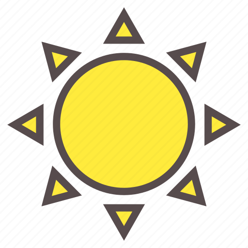 heat, hot, summer, sun, sunlight, vacation icon
