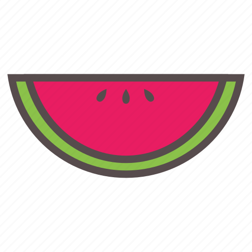 food, fruit, melon, summer, vacation, water, watermelon icon