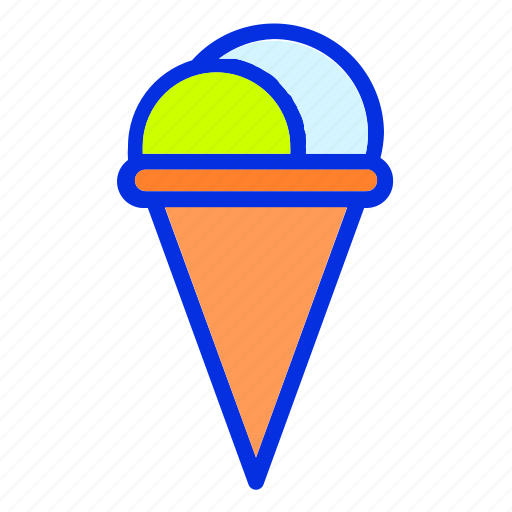 cup, drink, ice cream, summer, waffle icon