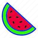 fruit, summer, vacation, watermelon icon