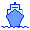 beach, boat, holiday, sea, ship, summer icon