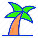 coconut, coconut tree, holiday, summer, vacation icon