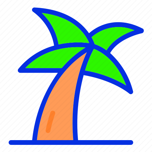 Coconut, coconut tree, holiday, summer, vacation icon - Download on Iconfinder