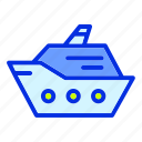 beach, holiday, sea, ship, summer, vacation icon