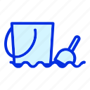 beach, bucket, holiday, sand, scoop, shovel, summer icon