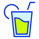 cup, drink, glass, juice, summer, travel icon