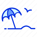 holiday, sand, summer, sun, umbrella, vacation icon