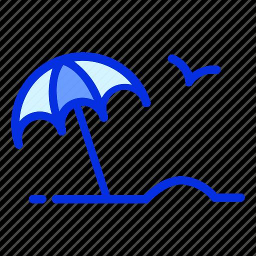 holiday, sand, summer, sun, umbrella, vacation icon