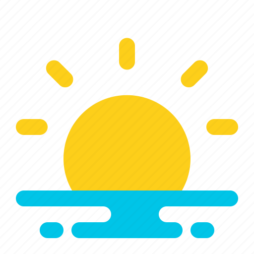 Beach, summer, sun, sunset, travel, vacation, weather icon - Download on Iconfinder