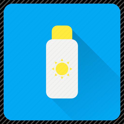 bathing, block, screen, summer, sun, sunblock, sunscreen icon