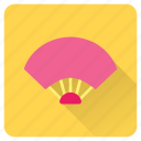 cooling, fan, hand, handfan, hot, summer, vacation icon