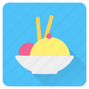 bowl, cream, food, ice, summer, vacation, wafer icon
