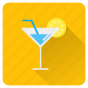 drinks, glass, ice, juice, lemon, summer, vacation icon