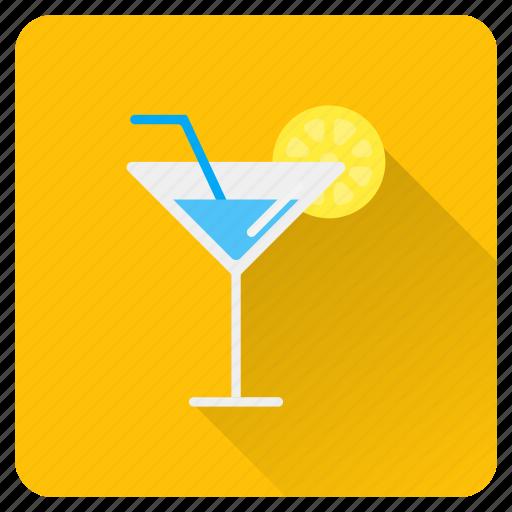 drinks, glass, ice, juice, lemon, summer, vacation icon