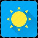 heat, hot, summer, sun, sunlight, vacation icon