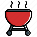 barbeque, beef, party, summer icon