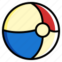 ball, beach, beachball, holiday, summer icon
