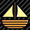 boat, sail, ship, transport, vacation