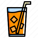beverage, drink, iced, tea icon