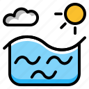 ocean, sea, summer, sunny, water icon