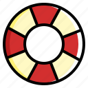 beach, summer, swim, swimring icon