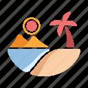 beach, holiday, sea, season, summer, tropical, vacation icon