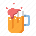 alcohol, beer, beverage, drink, glass, holiday, mug icon
