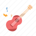 entertainment, guitar, holiday, leisure, music, recreation, vacation icon