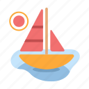 boat, sailboat, sea, ship, summer, travel, yacht icon