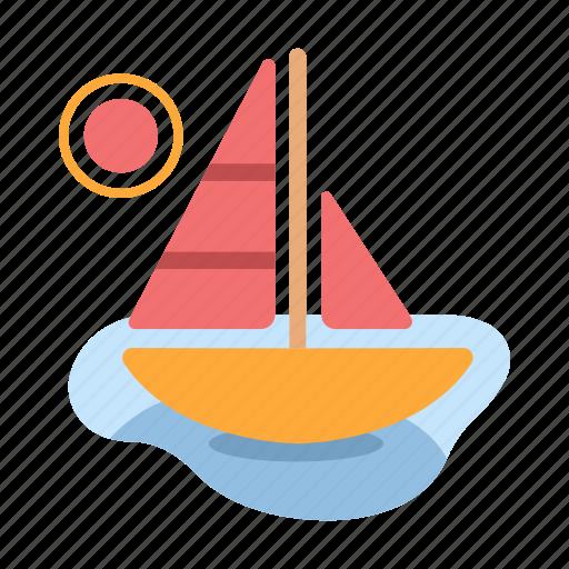 boat, sailboat, sea, ship, summer, travel, yacht icon