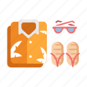 casual, clothes, fashion, sea, summer outfit, sunglasses, travel icon