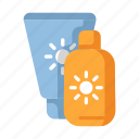 beach, lotion, protection, summer, sunblock, sunscreen, vacation icon